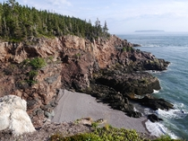 Cape Chignecto in the middle of the Bay of Fundy Nova Scotia