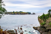 Cape Flattery WA with Canada lurking in the distance