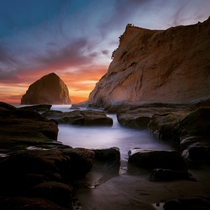 Cape Kiwanda on the Oregon Coast at Sunset OC