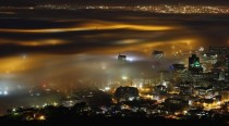 Cape Town engulfed in fog