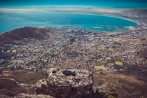 Cape Town South Africa Viewed from the top of