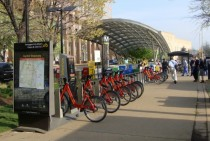 Capital Bikeshare station and Pentagon City Metro Entrance Greater Washington DC  c Mario R Duran Ortiz