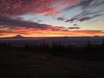 capital peak Olympia WA at sunrise iPhone photo by Matt Currier no filter