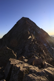 Capitol Peak at sunset from K CO