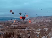 Cappadocia Turkey  with hot air balloons