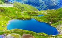 Capra Lake Fagaras Mountains Romania
