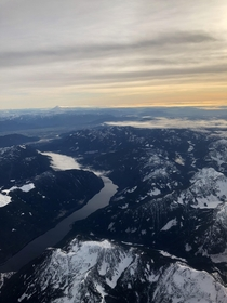 Captured this whilst flying into Vancouver BC Beautiful views of the Fraser Valley