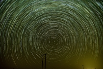 Capturing beautiful Star trails in the UAE