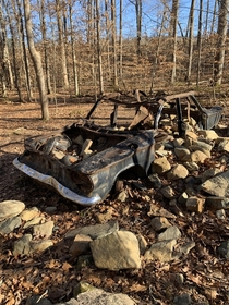 Car seems to be deliberately filled with rocks in rural NC Any reason why Its a common sight