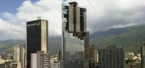 Caracas Abandoned Business Building in Middle of a Construction and then being occupied by people without housing
