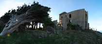 Cargills Castle a clifftop Victorian ruin above Dunedin New Zealand