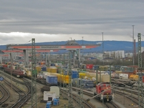 Cargo loading rail yard - Germany