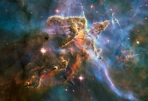 Carina Nebula billowing cloud of cold interstellar gas and dust