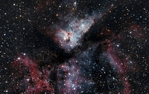 Carina Nebula is  Light Years away from earth and it one of the few nebula that you can see with your naked eye Photographed from New Zealand with a DSLR and telescope