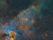 Carina Nebula Up Close  Hour Narrowband SHO