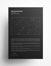 Carl Sagans Pale Blue Dot Passage Poster