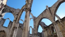 Carmo Convent in Lisbon Portugal ruined in the  earthquake now a museum   OC