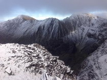 Carrauntoohill Irelands highest mountain Cold winter hike on some sketchy terrain