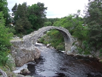 Carrbridge Scotland Left in damaged condition in  Gives name to the nearby village Info in comment