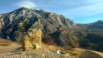 Cascade Mountain seen from lower Timpanogos UT