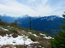 Cascade Mountains from Mount Thurston - Chilliwack BC Canada