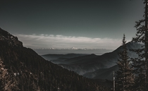 Cascade Mountains in the distance - view from Hurricane Ridge in the Olympics Washington State   x