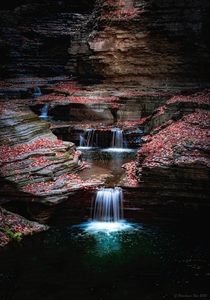 Cascades at Watkins Glen state park New York