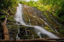 Cascading Water at Mingo Falls - Great Smoky Mountains USA