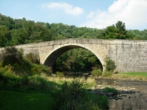 Casselman Bridge built in  for the National Road the first federally funded highway project in the United States Grantsville Maryland
