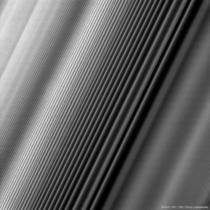 Cassini captured the density waves in Saturns rings CreditNASAJPLSSI Emily Lakdawalla