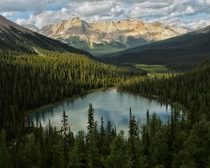 Casteleja Lake in the wild Front Ranges of Banff National Park Alberta Canada