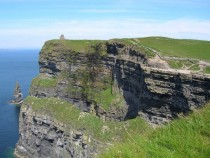 Castle by the Cliffs of Moher Galway Ireland