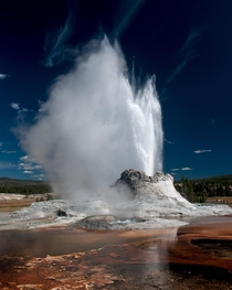 Castle Geyser Yellowstone  OC