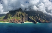 Castle in the sky The incredible Napali coastline HI in afternoon light as seen from a  ton whirlybird OC