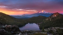 Castle Lake and Mt Shasta California  by Tarun Kotz