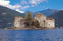Castle of Cannero Lake Maggiore Northern Italy