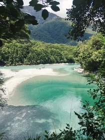 Casual roadside stop Blue Pools NZ