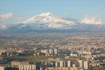 Catania Sicily with Mount Etna in the background