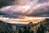 Catching the end of the sunset over Yosemite USA
