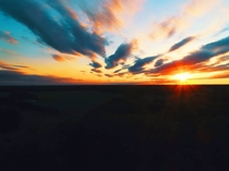 Catching the sun drone style Captured in Southwestern Ontario on my Phantom  Pro