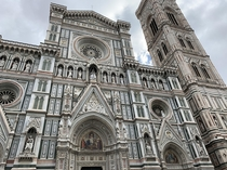 Cathedral de Santa Maria de Fiore in Florence Italy Otherwise known as Duomo dome not pictured