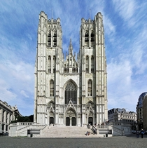 Cathedral of St Michael and St Gudula - Brussels Belgium