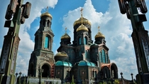 Cathedral of the Russian Armed Forces Its dark green exterior is forged out of captured German tanks