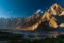 Cathedral Ridge viewed from the Karakoram Highway near Passu village Pakistan  Johan Assarsson