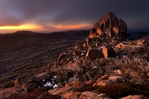 Cathedral Rock in Mount Buffalo National Park Australia  by Lee Duguid