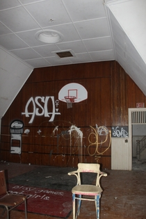 Catholic School Gym in the upstairs of an abandoned church in Poughkeepsie NY