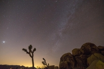 Caught the goddess of love last night in Joshua Tree National Park