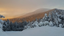 Caught the Sunset today at Killington Mountain Vermont