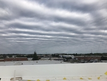 Caught this strange cloud formation at work a while back Been looking for a sub to post it in Pic taken at am April   in Richmond Virginia