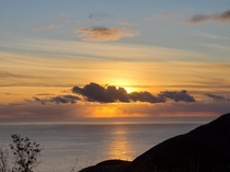 Caught this sunset as we were leaving Big Sur California